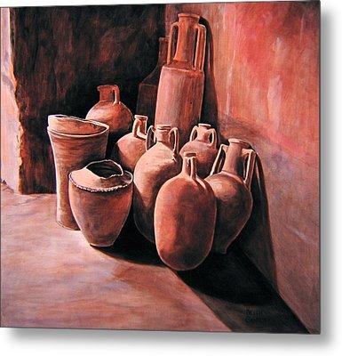 Pompeii - Jars Metal Print by Keith Gantos