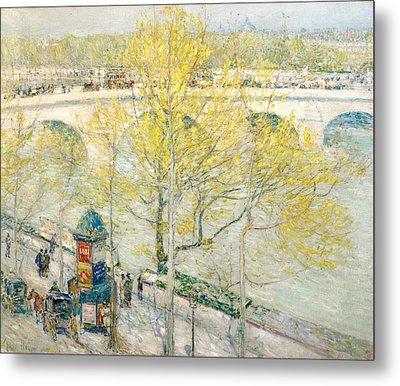 Pont Royal Paris Metal Print by Childe Hassam