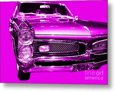 Pontiac Gto Magenta Metal Print by Wingsdomain Art and Photography