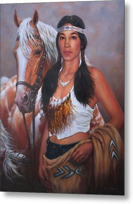 Pony Maiden Metal Print by Harvie Brown