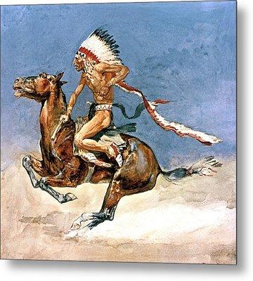 Pony War Dance Metal Print by Frederic Remington