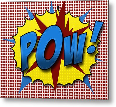 Pop Pow Metal Print by Suzanne Barber