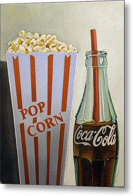 Popcorn And Coke Metal Print by Vic Vicini