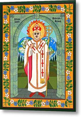 Pope John Xxiii Icon Metal Print by David Raber