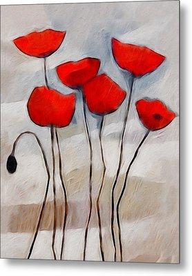 Poppies Painting Metal Print by Lutz Baar