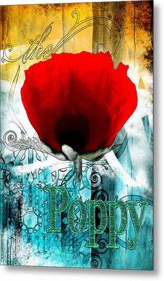 Poppy Metal Print by Harald Huettl