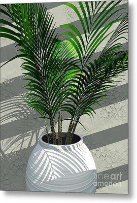 Porch Plant Metal Print by Richard Rizzo