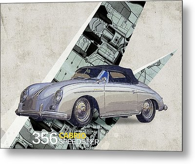 Porsche 356 Speedster Metal Print by Yurdaer Bes