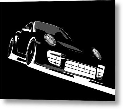 Porsche 911 Gt2 Night Metal Print by Michael Tompsett