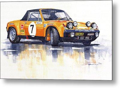 Porsche 914-6 Gt Rally Metal Print by Yuriy  Shevchuk
