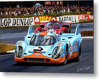 Porsche 917 At Le Mans Metal Print by David Kyte