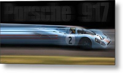 Porsche 917 Metal Print by Peter Chilelli