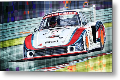 Porsche 935 Coupe Moby Dick Martini Racing Team Metal Print by Yuriy  Shevchuk