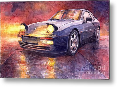 Porsche 944 Turbo Metal Print by Yuriy  Shevchuk