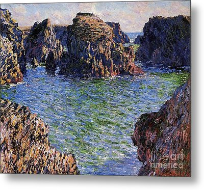 Port Goulphar Belle Ile Brittany Metal Print by Claude Monet