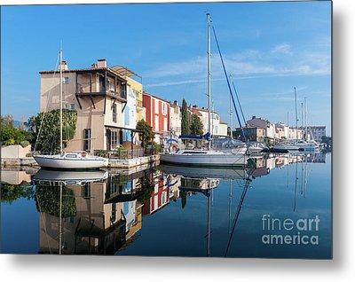 Port Grimaud Port With Yachts Metal Print by Edoardo Nicolino