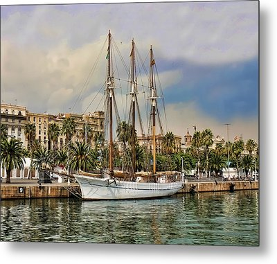 Port Vell  Near Barcelona Harbour Metal Print by Alex Hardie