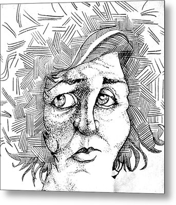 Portait Of A Woman Metal Print by Michelle Calkins
