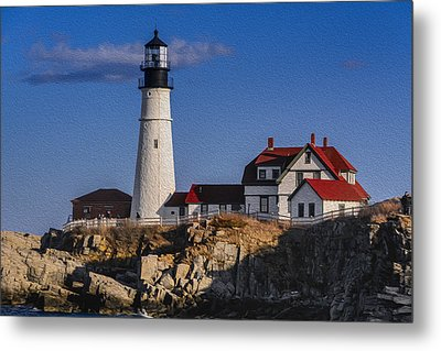Portland Head Light No. 44 Metal Print by Mark Myhaver