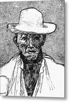 Portrait Of A Farmer Metal Print by Vincent Van Gogh