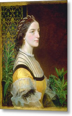 Portrait Of A Lady Metal Print by Frederick Sandys