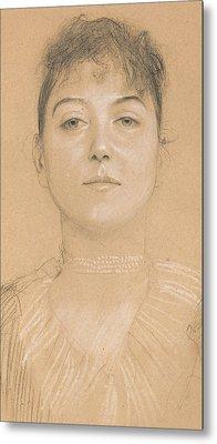 Portrait Of A Woman Metal Print by Gustav Klimt