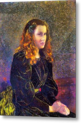 Portrait Of A Woman Metal Print by Mario Carini