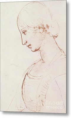Portrait Of A Young Woman  Metal Print by Raphael