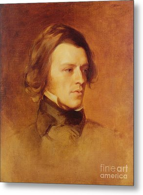 Portrait Of Alfred Lord Tennyson Metal Print by Samuel Laurence