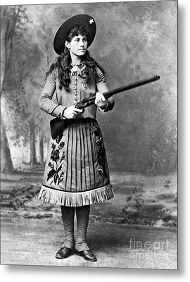 Portrait Of Annie Oakley Metal Print by American School