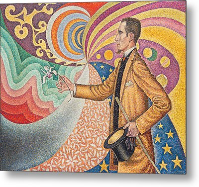 Portrait Of Felix Feneon Metal Print by Paul Signac