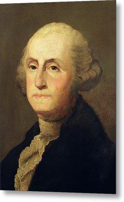 Portrait Of George Washington Metal Print by Gilbert Stuart