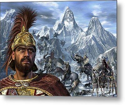 Portrait Of Hannibal And His Troops Metal Print by Kurt Miller