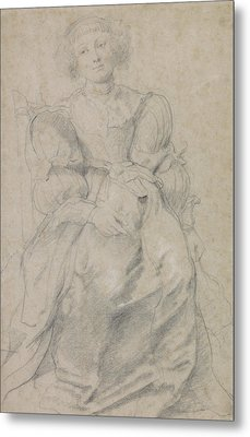 Portrait Of Helene Fourment Metal Print by Peter Paul Rubens