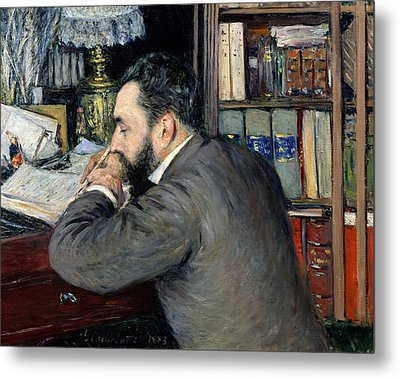 Portrait Of Henri Cordier Metal Print by Gustave Caillebotte