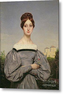 Portrait Of Louise Vernet Metal Print by Emile Jean Horace Vernet