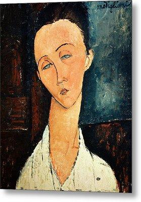 Portrait Of Lunia Czechowska Metal Print by Amedeo Modigliani