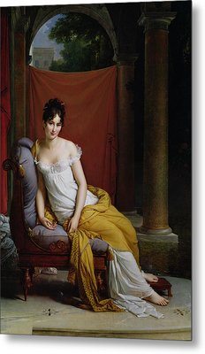 Portrait Of Madame Recamier Metal Print by Francois Pascal Simon Gerard
