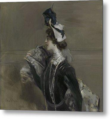 Portrait Of Mademoiselle Lina Cavalieri Metal Print by Giovanni Boldini