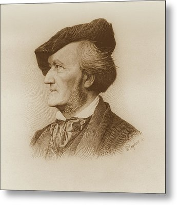 Portrait Of Richard Wagner Metal Print by Robert Reyher