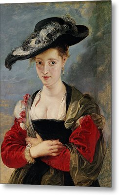 Portrait Of Susanna Lunden Metal Print by Peter Paul Rubens