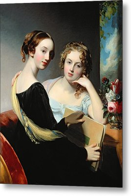 Portrait Of The Mceuen Sisters Metal Print by Thomas Sully