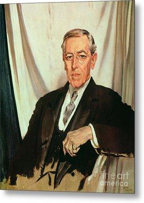 Portrait Of Woodrow Wilson Metal Print by Sir William Orpen