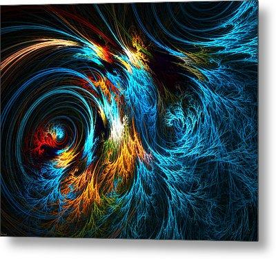 Poseidon's Wrath Metal Print by Lourry Legarde