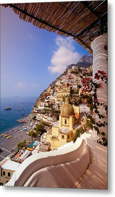 Positano View Metal Print by Neil Buchan-Grant