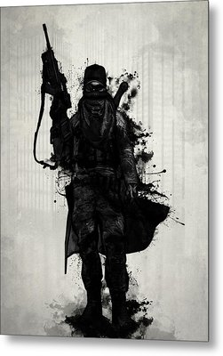 Post Apocalyptic Warrior Metal Print by Nicklas Gustafsson