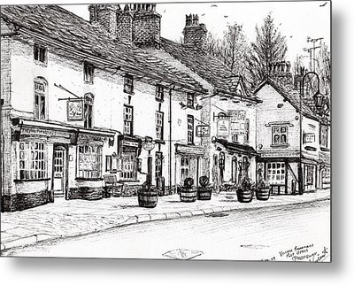 Post Office  Prestbury Metal Print by Vincent Alexander Booth