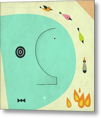 Post Traumatic Stress Disorder Metal Print by Jazzberry Blue