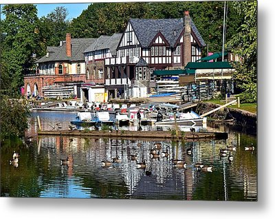 Postcard Perfect Boathouse Row Metal Print by Frozen in Time Fine Art Photography