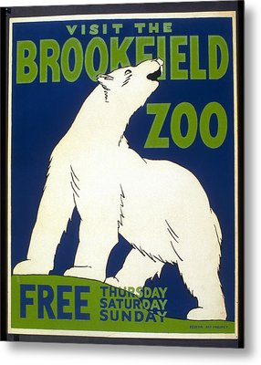 Poster For The Brookfield Zoo Metal Print by Unknown